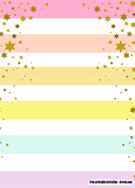 FREE Printable Rainbow Party Invitation Templates