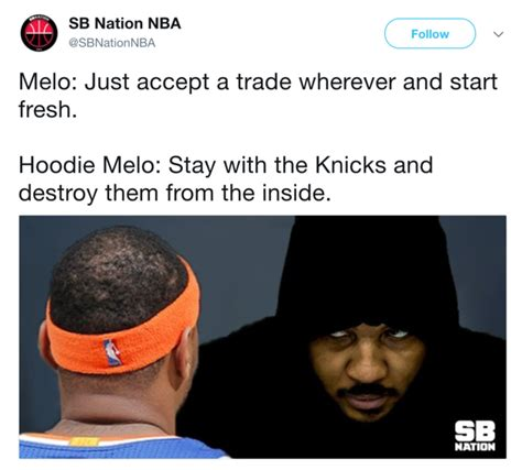 Melo Memes - sb nation hoodie melo origin hoodie melo know your meme