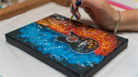 Download guitar pro tab (11,33 kb) solve the captcha to download the tab. Guitar Fire and Water - Acrylic painting / Homemade ...