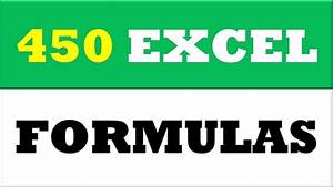 Learn 450 Excel Formulas In 1 Video