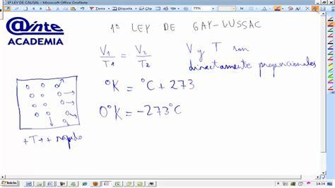 primera ley de lussac fisica y quimica 3 186 eso ainte youtube