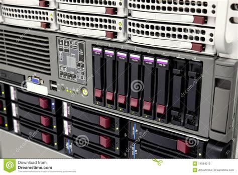 data storage rack  hard drives stock photography