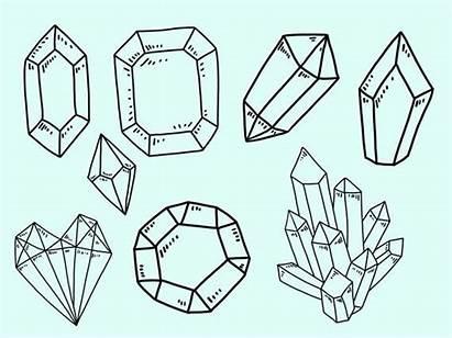 Crystal Gem Clip Doodle Clipart Doodles Vector