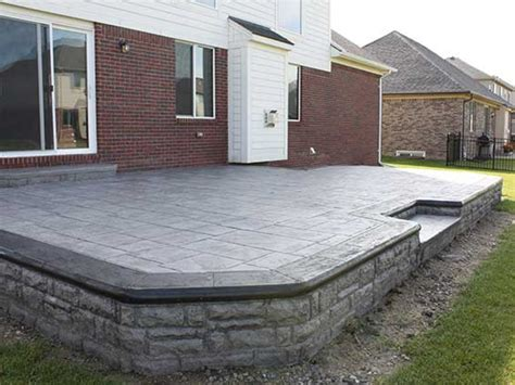 patio flooring options sted concrete patio cost cost