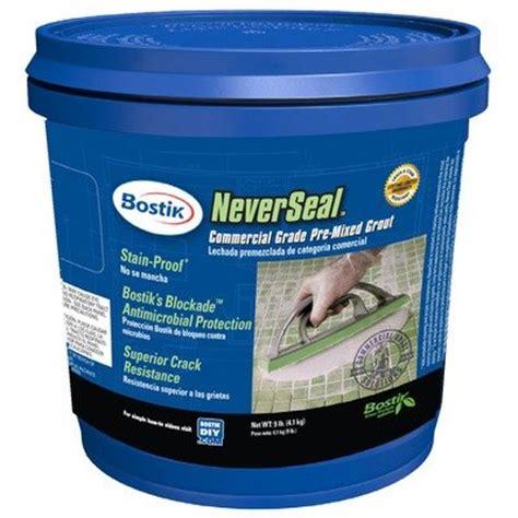 bostik neverseal greenselmashop buy bostik neverseal commercial grade pre mixed grout 9 lb bucket