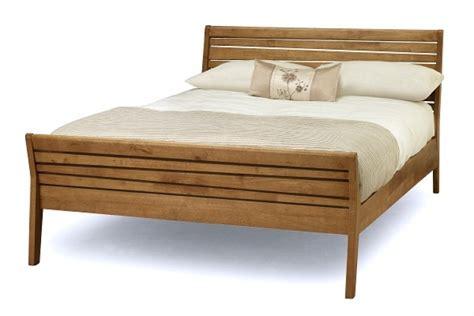serene zahra honey oak ft double wooden bed frame