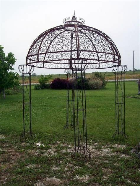 Wrought Iron Jester Arbor Gazebo  Garden Arch Dome