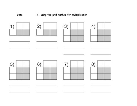 multiplication worksheets using grid method tes grid multiplication driverlayer search engine
