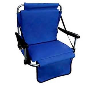 stadium seat folding portable padded bleacher chair new