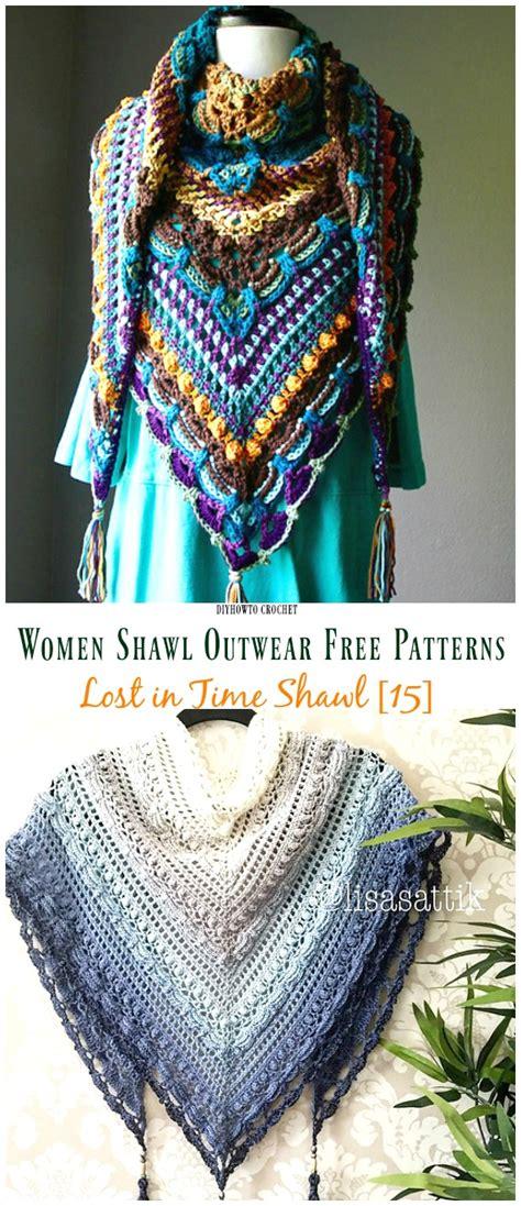 crochet women shawl outwear  patterns instructions