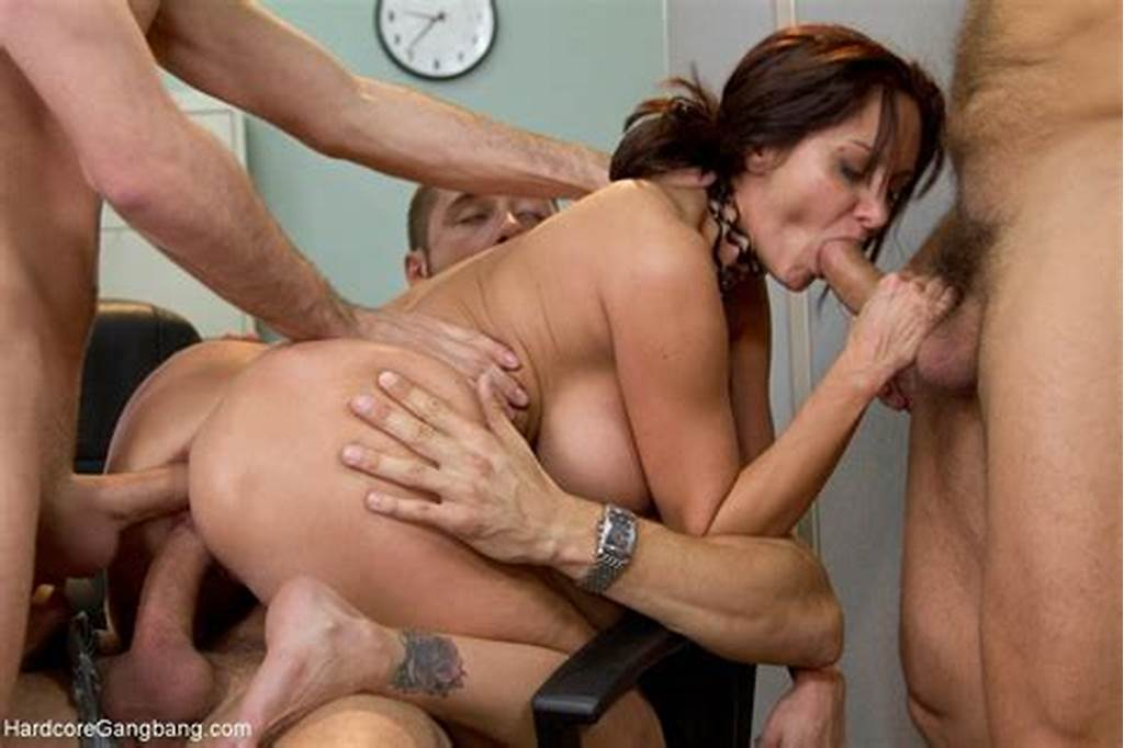 #Secretary #Ava #Addams #With #Tattoo #In #Office #Enjoying #Double