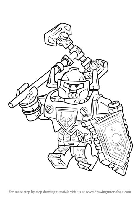 clay nexo knights coloring pages coloring pages