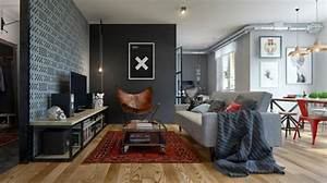 interieur design moderne pour un petit appartement a minsk With design interieur petit appartement