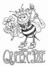 Bee Coloring Queen Pages Adult Bees Printable Cute Colouring Adults Quote Print Getcolorings Colorings Colori Discover sketch template