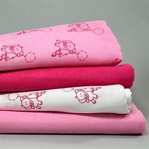 Lange Pour Bébé : lange pour b b fond blanc imprim l phant rose en mousseline de coton fond blanc lange pour ~ Teatrodelosmanantiales.com Idées de Décoration