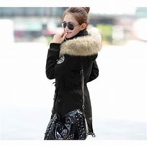 Manteau Homme Avec Fourrure : manteau femme parka fille fourrure avec capuche noir ~ Melissatoandfro.com Idées de Décoration