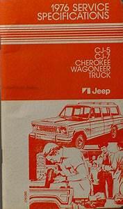 1976 Jeep Data Book Original Cherokee Wagoneer Cj Truck