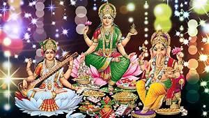 Laxmi Ganesh Saraswati Wallpaper