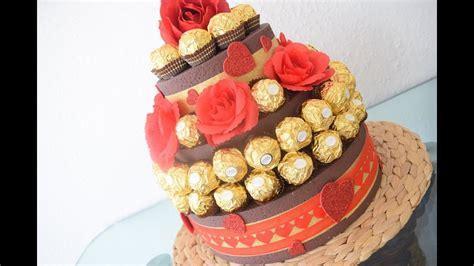 torte aus süßigkeiten basteln diy rocher torte zum verschenken hochzeitsgeschenk o andere besondere anl 228 sse