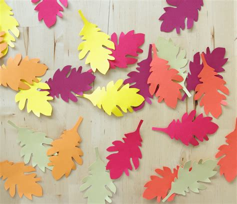 Herbstlaub Basteln Blaetter Deko Aus Papier by Hasen Basteln
