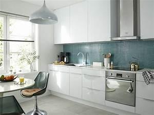 je fonds pour une cuisine bleue elle decoration With cuisine bleue et blanche