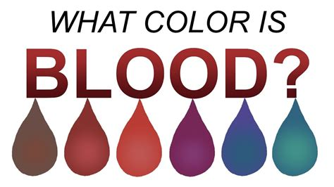 color of blood what color is blood really length version