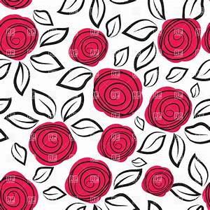 Seamless background with abstract rose Vector Clipart ...