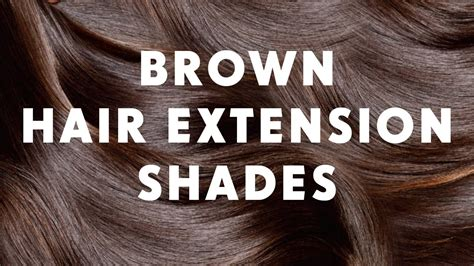 Brown Hair Extension Shades