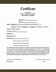 conformity certificate template microsoft word templates With letter of conformance template