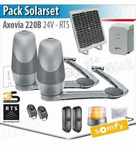 Motorisation De Portail Somfy : axovia 220 b somfy pack solarset panneau solaire ~ Dailycaller-alerts.com Idées de Décoration