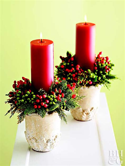 candles for christmas table crafty christmas candle displays
