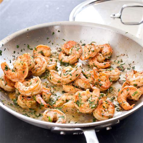 pan seared shrimp  garlic lemon butter