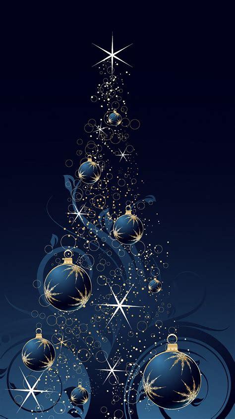 blue christmas tree samsung galaxy s6 s7 wallpapers hd 1440x2560