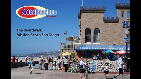 Beach Boardwalk San Diego California Youtube