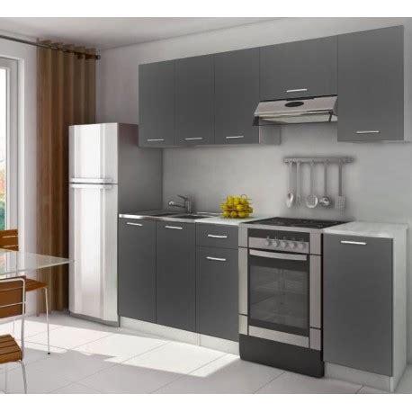 chambre d adulte complete cuisine complète équipée 2m20 lamina grise pas cher