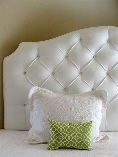 White Headboard With Crystals by White Velvet Tufted Upholstered Headboard With