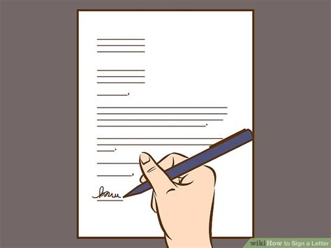 How To Sign A Cover Letter On Word by The Best Ways To Sign A Letter Wikihow
