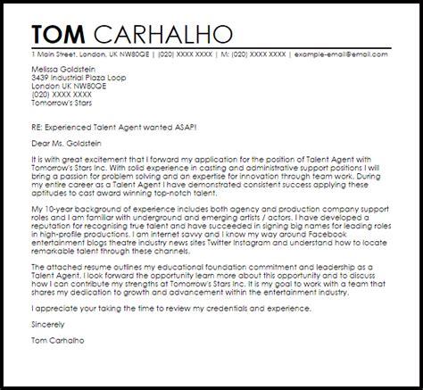 talent cover letter sle livecareer