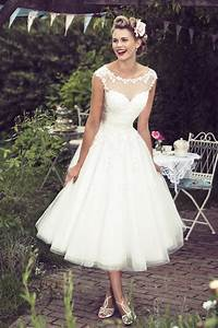 mae brighton belle chic 1950s retro vintage style calf With wedding dress styles for short brides