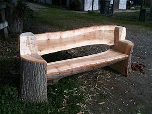 This bench was made from and urban poplar tree, all the