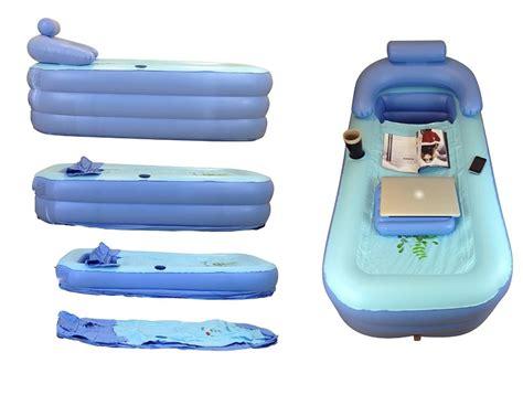 cette baignoire gonflable pour adulte sert de bain d 39 appoint portable