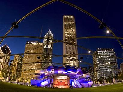 Chicago Park Pavilion Millennium Illinois Normal Wallpapers