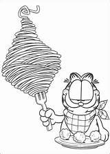 Garfield Spaghetti Coloring Colorir Desenhos Disegni Pasta Ausmalbilder Dibujos Colorare Kolorowanka Colorear Coloriage Kot Jedzenie Obiad Sphagetti Bambini Printable Mangia sketch template