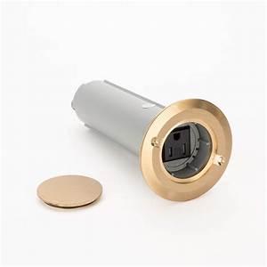 carlon e971fbdib 2 1 gang drop in round floor box w brass With carlon floor outlet