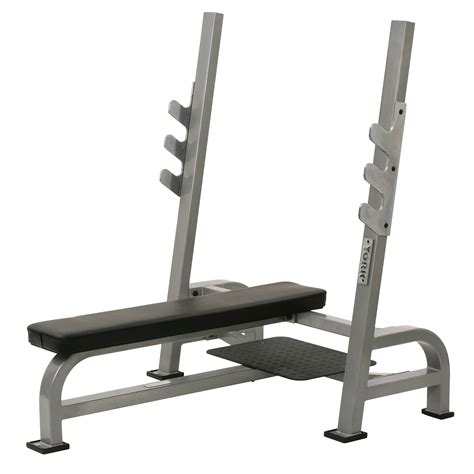 York Oly Flat Bench Press With Gun Racks Sweatbandcom