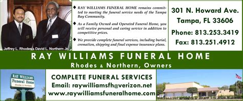 Ray Williams Funeral Home « Dsi Black Pages