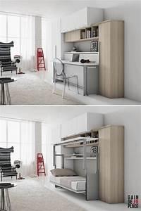 les 25 meilleures idees concernant lit escamotable canape With meubles pour petits espaces 2 le bureau escamotable decisions pour les petits espaces
