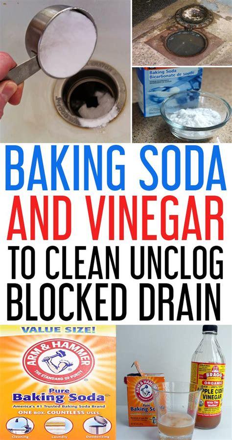 baking soda  vinegar  clean clogged drains