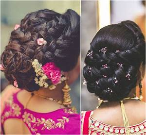 Indian Bridal Bun Hairstyles With Flowers HairStyles