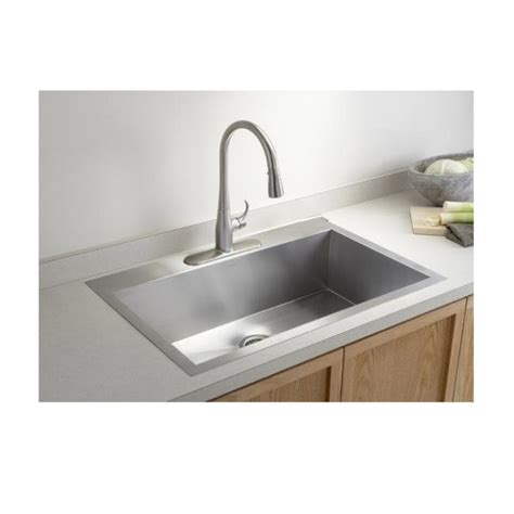Kitchen Sink Top by 36 Inch Top Mount Drop In Stainless Steel Single